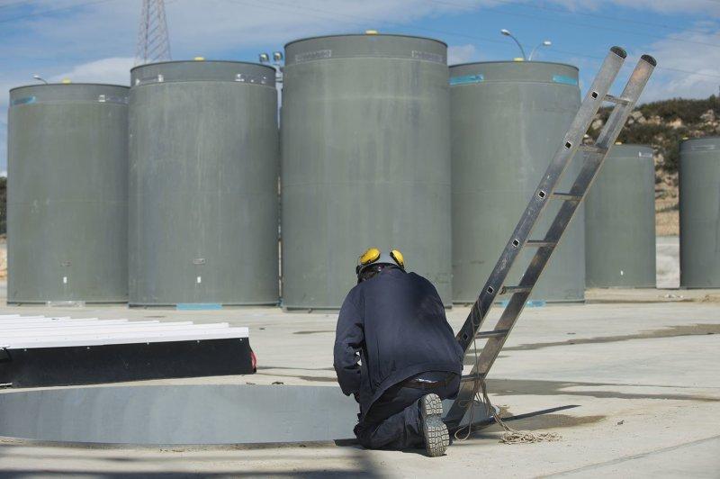 Imatge del magatzem individual de residus nuclears de la central nuclear d'Ascó. Foto: JOAN REVILLAS