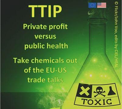 campaña contra el TTIP de las ONGs HEAL y CIEL